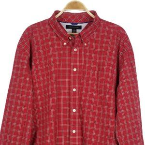 Tommy Hilfiger Preppy Plaid Button Down Shirt